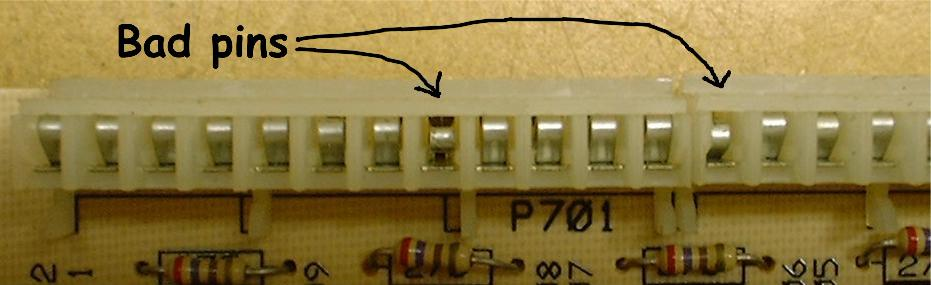 Bad pin in connector