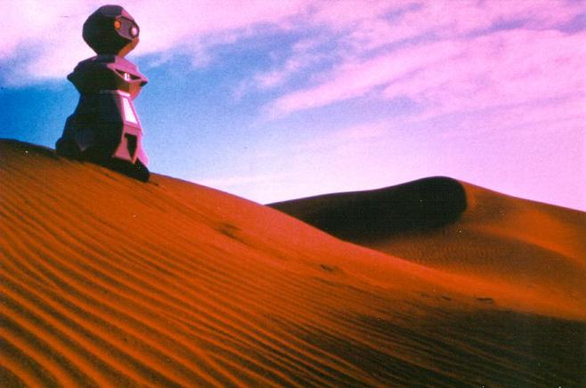 Androbot BOB in the desert