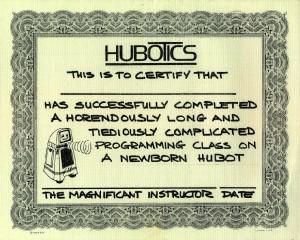 HUBOT certificate