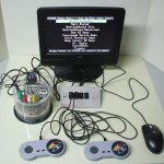Retro Hydra game console clone in CD spindle case