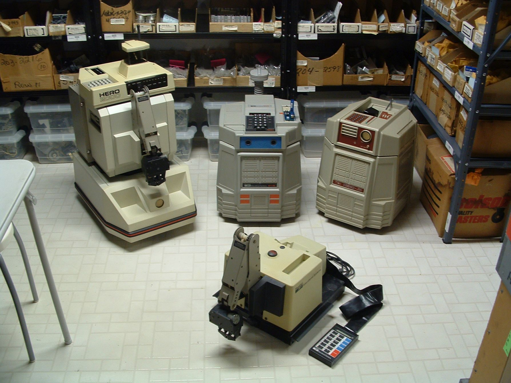 HERO 2000, HERO 1, and HERO Jr robots
