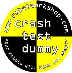 Crash Test Dummy target sticker