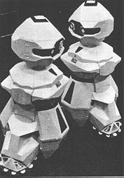 Two TOPO robots dancing